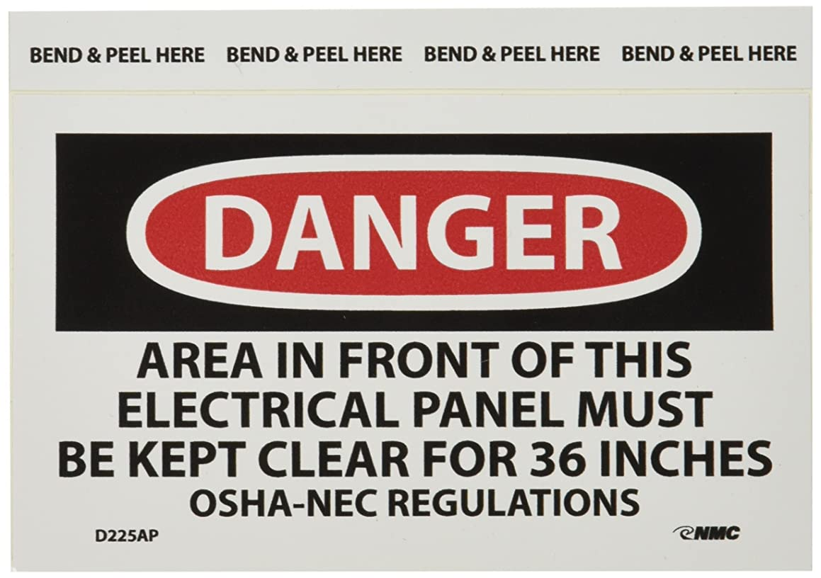 NMC D225AP OSHA Sign, Legend