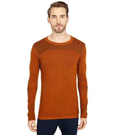 Smartwool Intraknit Merino 200 Crew (Monument Orange/Black) Men