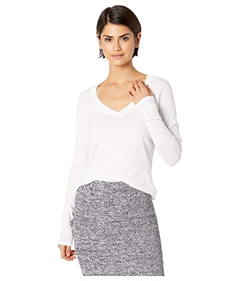 3ab67b87 LAmade Long Sleeve V-Neck in Tissue Jersey at Zappos.com