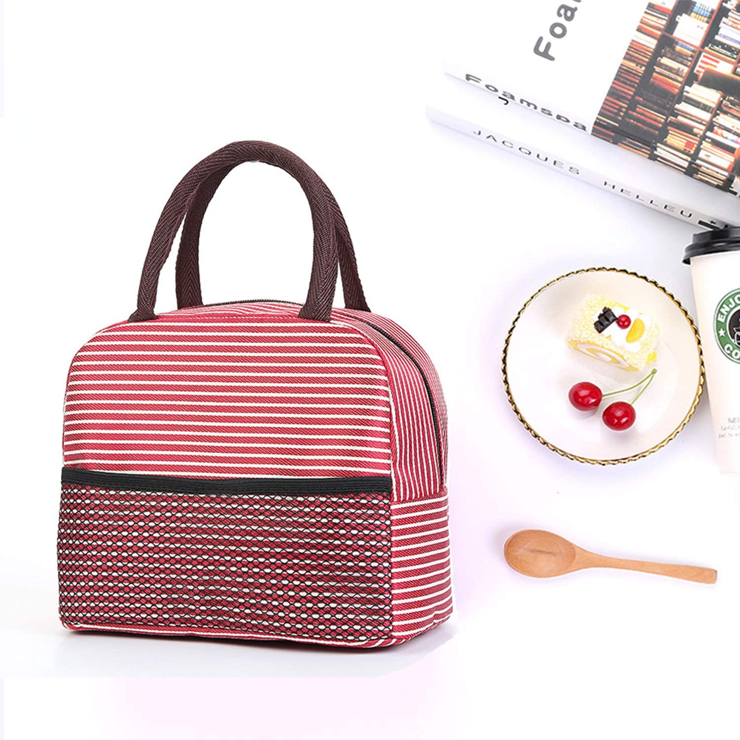 LuckY.Ss Insulated Lunch Bags Small for Women Work,Student Kids to School,Thermal Cooler Tote Bag Picnic Organizer Storage Lunch Box Portable and Reusable Rainbow Horse