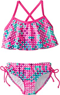 Kanu Surf Girls' Nikki Flounce Bikini Swimsuit
