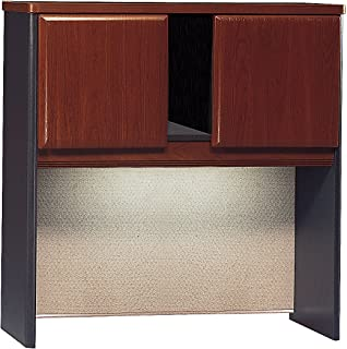 Bush Business Furniture Series A Collection 36W Hutch in Hansen Cherry/Galaxy