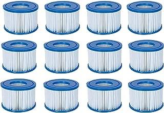 Bestway Spa Filter Pump Replacement Cartridge Type VI (12 Pack) (Coleman)