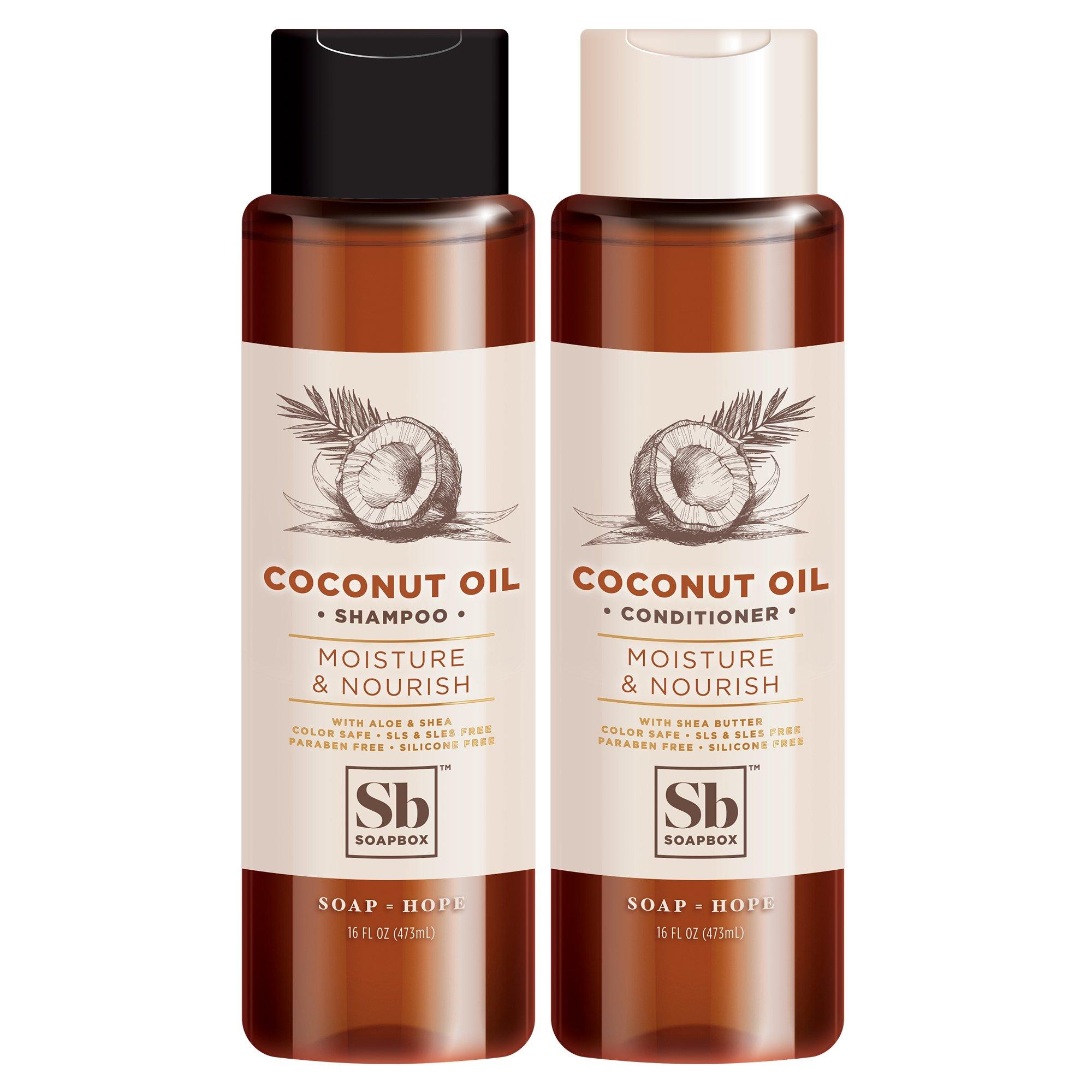 Soapbox Shampoo Conditioner Coconut Moisturize