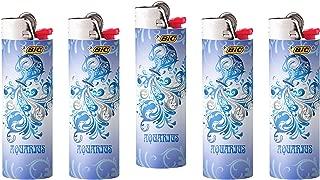 Bic Horoscope Lighters Aquarius Collectable Design 5 Pack