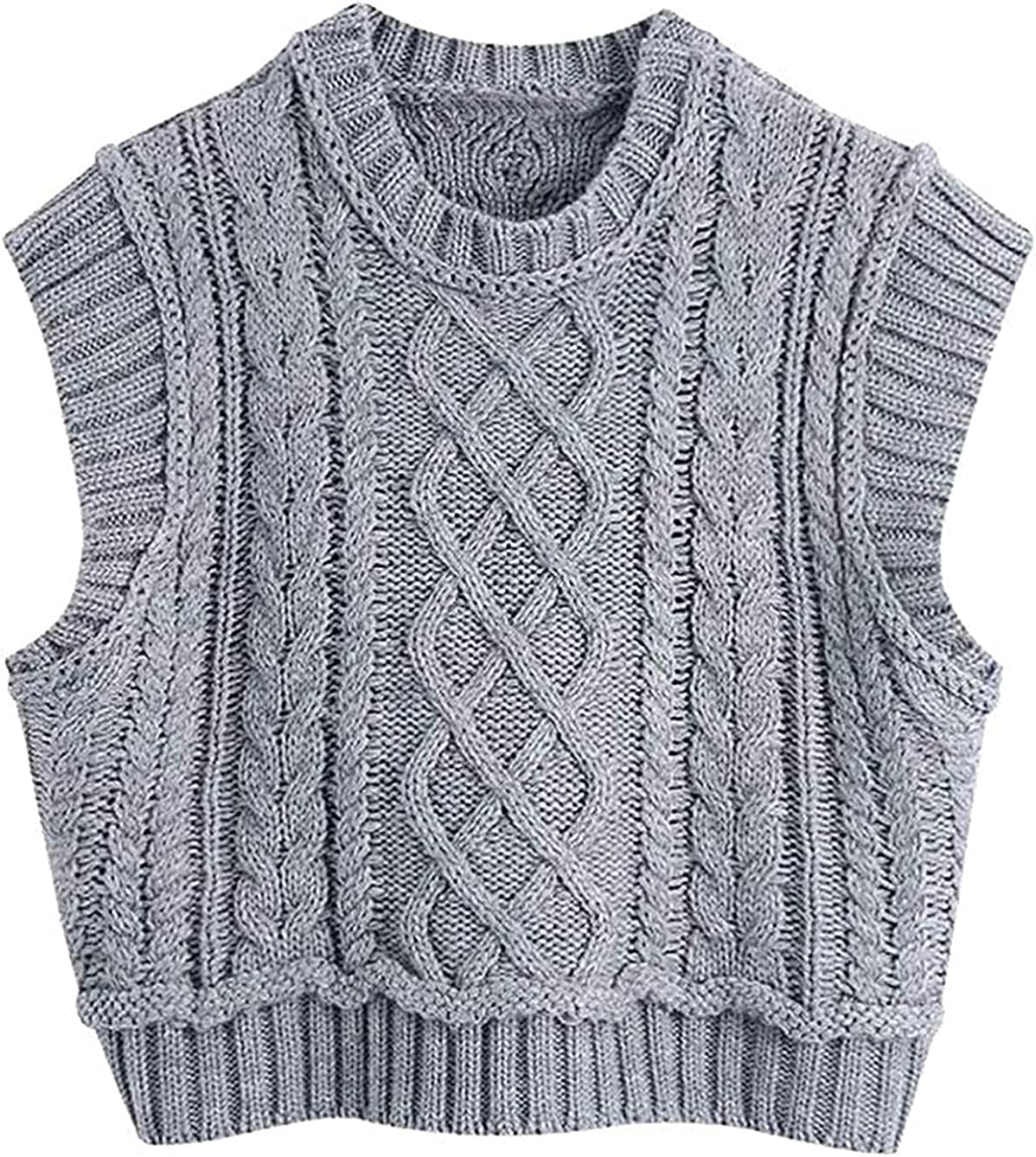 Women Special price for a limited Genuine time Fashion O Neck Solid Female Twist Knitting Sleevel Sweater