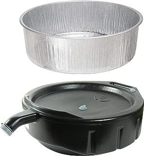 Plews Drain Pan Utility Purpose 3-1/2 Gallon Bundle with FloTool 15-Quart Oil Drain Pan
