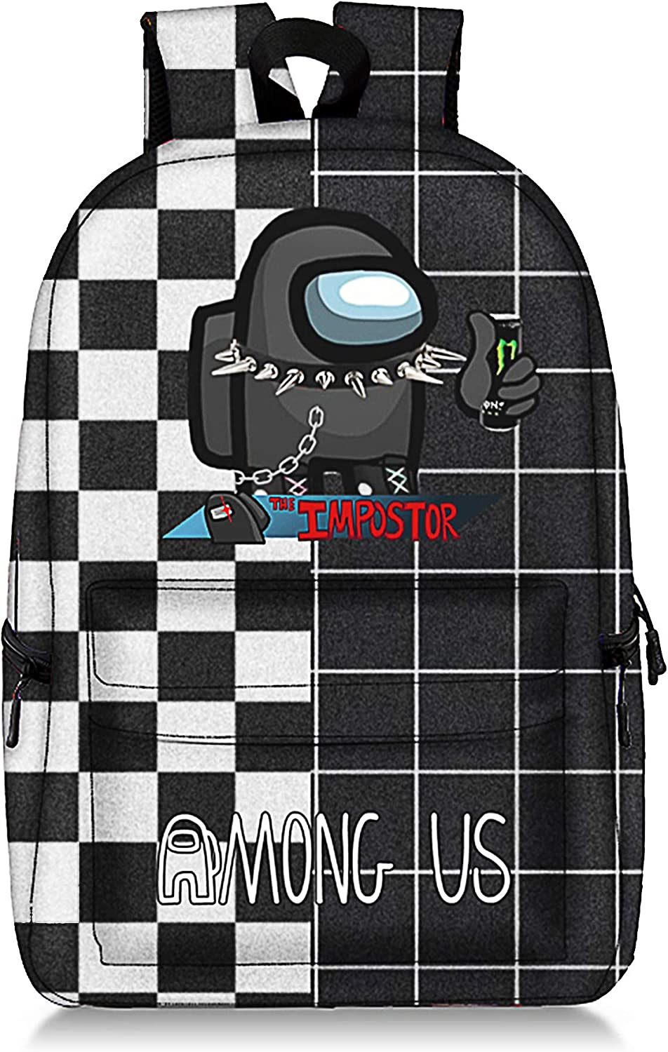 Among-Us Game Backpack Impostor Crewmate School Bag For Kids 18inch