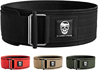 Gymreapers Quick Locking Weightlifting Belt for Bodybuilding, Powerlifting, Cross Training - 4 Inch Neoprene with Metal Bu...
