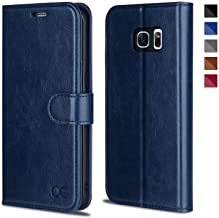 OCASE Galaxy S7 Edge Case [TPU Shockproof Interior Protective Case] [Card Slot] [Kickstand] Leather Wallet Flip Case Samsung Galaxy S7 Edge (Blue)