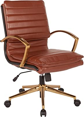 Brilliant Amazon Com Acme Hamilton Top Grain Leather Office Chair In Creativecarmelina Interior Chair Design Creativecarmelinacom