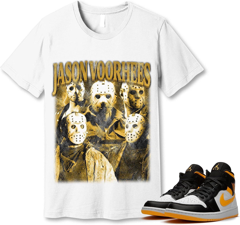 #Jason #Voorhees Popularity T-Shirt to Free shipping / New Match Laser 1 Jordan Orange Sneaker