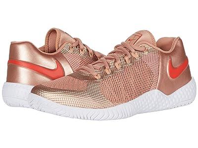 Nike Flare 2 HC (Metallic Red Bronze/Habanero Red/Rose Gold) Women