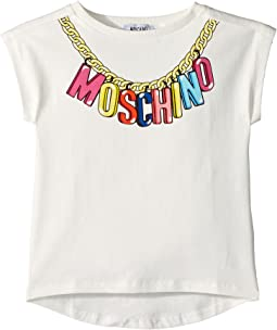 Moschino Kids - Short Sleeve Logo Necklace Graphic T-Shirt (Little Kids/Big Kids)