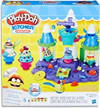 Play-Doh - Kitchen Creations - Ice Cream Castle inc 6 Tubs of Dough and Accessories - Creative Kids Toys - Ages 3+