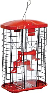 Stokes Select Squirrel-X Squirrel Resistant Bird Feeder, Jumbo Hopper Feeder, Four Perches, 7.2 Pounds Bird Seed Capacity, Red