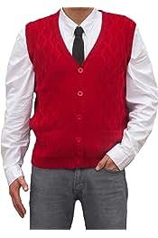 Peruvian Alpaca Wool TINKUY Peru Vest for Men Basic V Neck Sweater Pullover Heather Grey