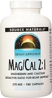 SOURCE NATURALS Mag/Cal 2:1 370 Mg Capsule, 180 Count