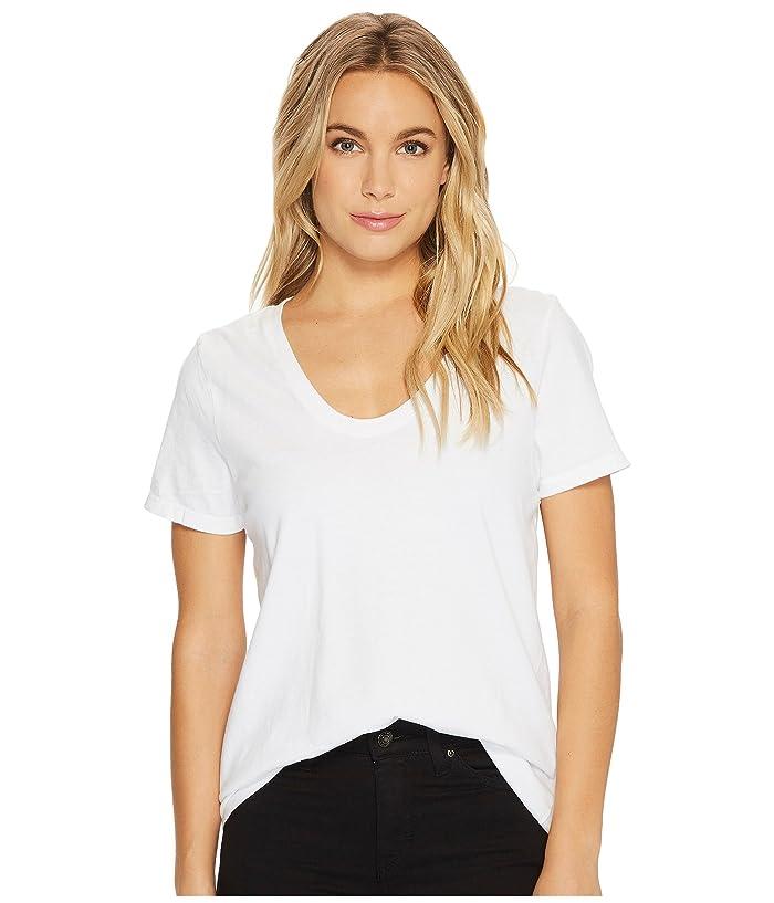 Richer Poorer Scoop V Tee (Optic White) Women's T Shirt