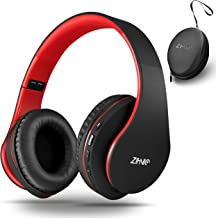 Wireless Over-Ear Headphones with Deep Bass, Foldable Wireless and Wired Stereo Headset..