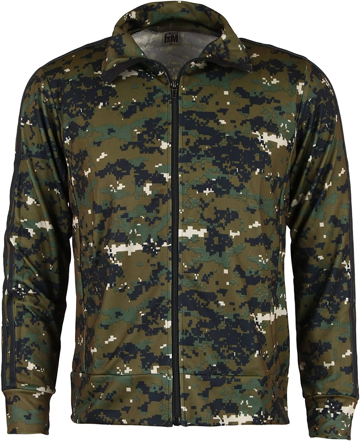 Ililily Military Army Pattern Jogging Training Fitness Warmup 2pc Track Suit