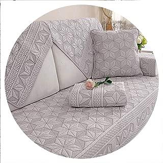 sensitives Double Sided Cotton Sofa Covers Cushion Four Seasons Sofa Towel Modern Simple Living Room Corner Couch Cover Armrest Towel,D,70x70cm 1pcs