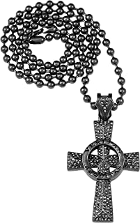 GWOOD Veritas Aequitas Necklace Gun Metal Color Pendant with 36 Inch Ball Chain