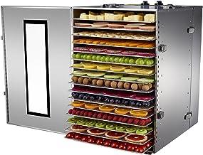 Déshydrateur Alimentaire Professionnel BioChef Premium 16 Plateaux - 1500w, Minuterie 15h, Plateaux amovibles en Acier Ino...