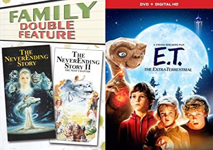 80's Childhood Friends Be Good Bundle - E. T. The Extra Terrestrial (with Digital HD), The Neverending Story & The Never ending Story II: The Next Chapter 3-Movie Set