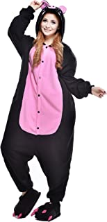 NEWCOSPLAY Unisex Adult Pig One- Piece Cosplay Animal Pajamas Halloween Costume