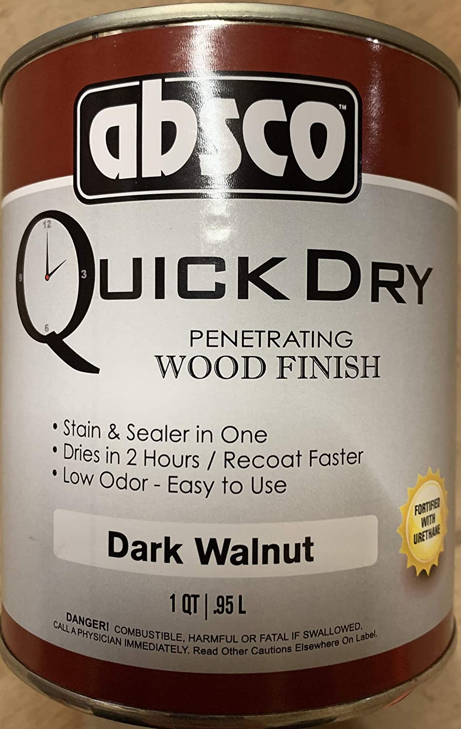 Absco Quick Dry Penetrating Dark We OFFer at cheap prices Stain OFFicial store Walnut