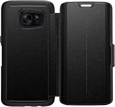 OtterBox STRADA SERIES Leather Wallet Case for Samsung Galaxy S7 Edge - Retail Packaging - PHANTOM (BLACK/BLACK LEATHER)