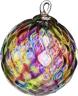 Glass Eye Studio Hand Blown Glass Ornament - Rainbow Diamond Facet