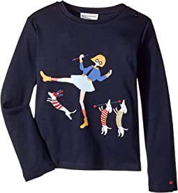 Sonia Rykiel Kids - Long Sleeve T-Shirt w/ Rykiel Girl & Dogs (Big Kids)