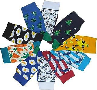 Kudays, Calcetines coloridos estampados con secador de pelo, limón, delfín, huevo frito, cactus, bicicleta, zanahoria, unisex