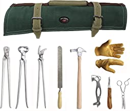 ProRider USA 8 Piece Horse Shoe Farrier Hoof Grooming Tool Kit w/Canvas Carry Bag 98475