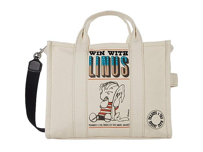Marc Jacobs Peanuts Americana Small Traveler Tote (White Multi) Tote Handbags