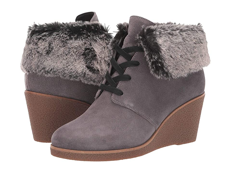 Cole Haan Coralie Wedge Bootie (Stormcloud Waterproof Suede) Women