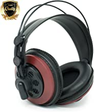 AKG M220 Pro Stylist Professional Large Diaphragm DJ Semi-Open High Definition Over-Ear Studio Headphones - Red