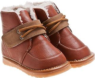 4b1414abb8782 Little Blue Lamb Couine Chaussures Bottes Bottes Fourrées Marron