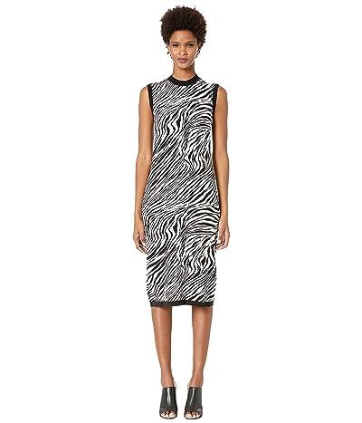 McQ Zebra Tube Dress (Chalk) Women