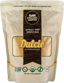 Dulcie Organic Unrefined Natural Cane Sugar (1 LB Bag)