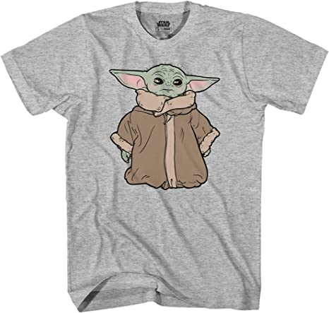 Star Wars Mandalorien Baby Yoda Cargo Poche Officiel Tee T-shirt Homme Unisexe