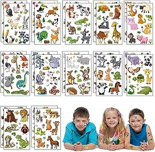 Matogle 24 Blätter Tattoo Tier Set Kinder Tattoos temporär