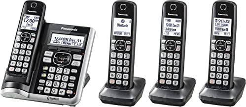PANASONIC Link2Cell Bluetooth Cordless Phone System with Voice Assistant, Call Blocking..