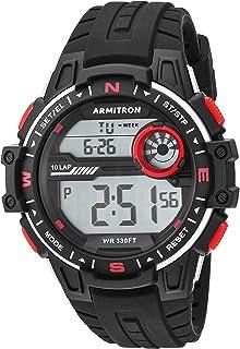 Armitron Sport Men's 40/8440BLK Red Accented Digital Black Silicone Strap Watch