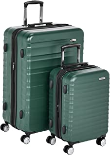 "AmazonBasics Premium Hardside Spinner Luggage with Built-In TSA Lock - 2-Piece Set (21"", 30""), Green"