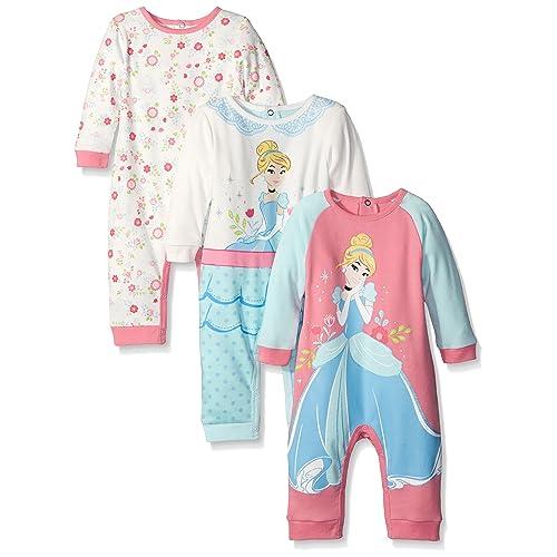78691df4c Disney Baby Girls' 3 Pack Coveralls Of Cinderella