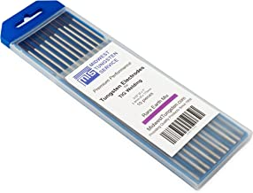 "TIG Welding Tungsten Electrodes Rare Earth Blend 3/32"" x 7"" (Purple, EWG) 10-Pack"