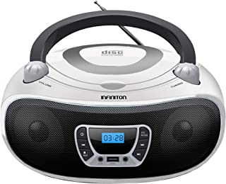 Radio CD INFINITON Boombox (Lector de CD/Mp3/WMA, USB. Radio